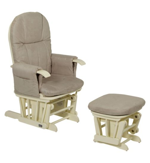 Tutti Bambini Deluxe Reclinable Glider Chair & Stool - Vanilla Finish