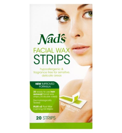Nad's  Facial Wax Strips 20s