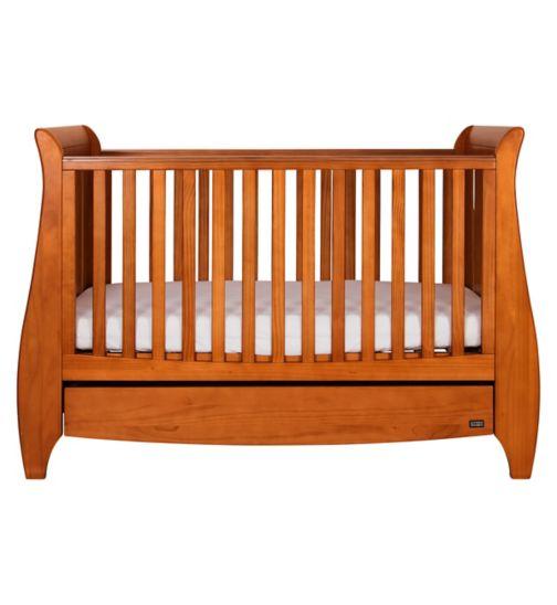 Tutti Bambini Lucas Sleigh Cot Bed - Oak Finish
