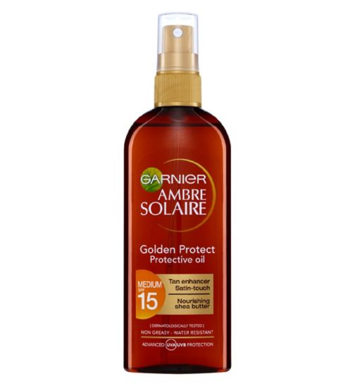 Ambre Solaire Golden Protect Sun Oil SPF15 150ml