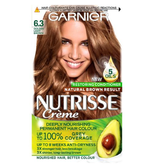 Garnier Nutrisse Crème Permanent Hair Colour 6.3 Caramel Light Brown