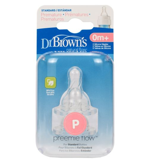 Dr Brown's Preemie Teat - x 2