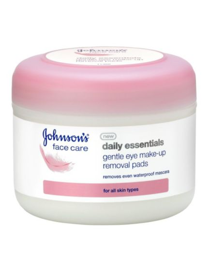 Johnson's Daily Essentials Gentle Eye Make-up Removal Pads, for All Skin Types (30 Pads)