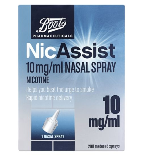 Boots Pharmaceuticals NicAssist Nasal Spray 10mg/ml (Nicotine)