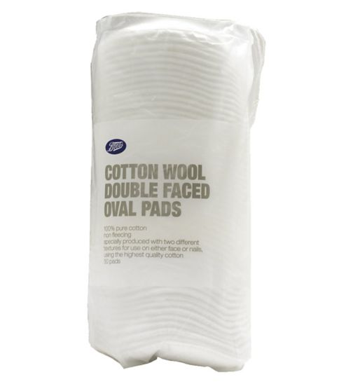 Boots Cotton Wool Double Faced Oval Pads 50 pack