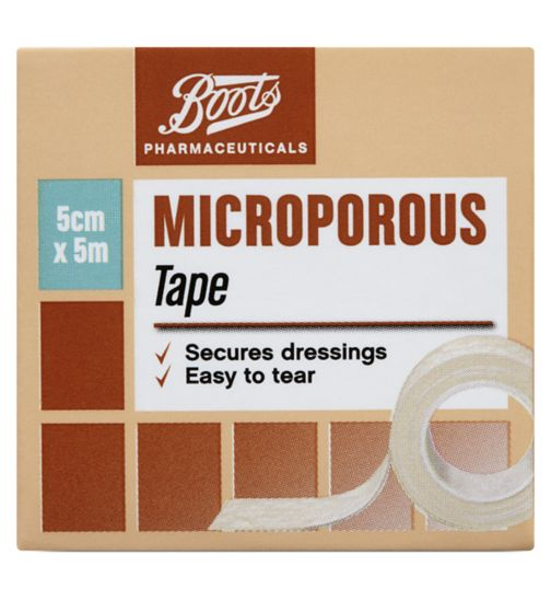 Boots Microporous Surgical Tape 5cm x 5m
