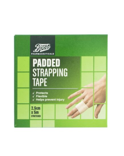 Boots Padded Strapping Tape 2.5cm x 5m