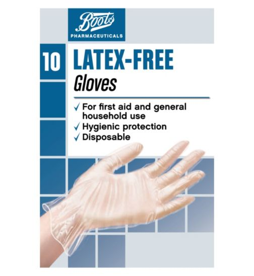 Boots Latex-Free Gloves- One Size (10 Gloves)