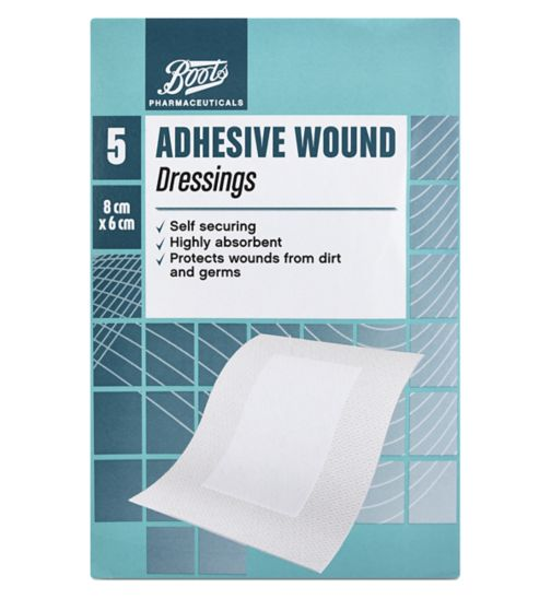 Boots Adhesive Wound Dressing (8cm x 6cm) - Pack of 5