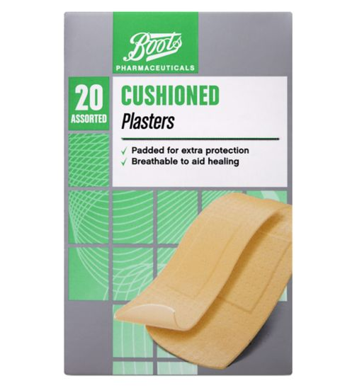 Boots Cushioned Plasters (Pack of 20 Assorted)