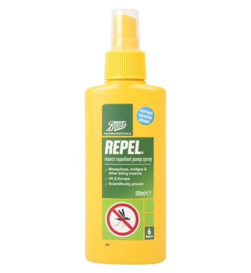 Boots Pharmaceuticals Repel Insect Repellent Pump Spray (6 years +) 120ml