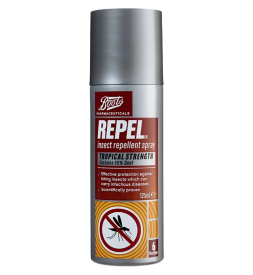 Boots Repel DEET Tropical Insect Repellent Spray (125ml)