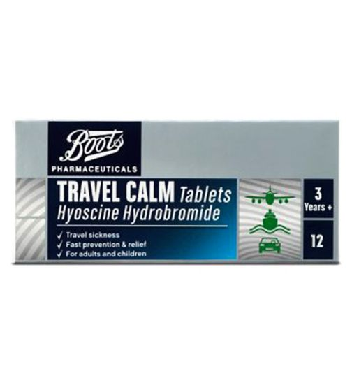 Boots Pharmaceuticals Travel Calm Tablets - 12 Tablets