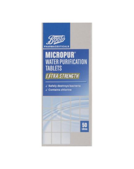 Boots  Micropur Water Purification Tablets Extra Strength - 50 tablets