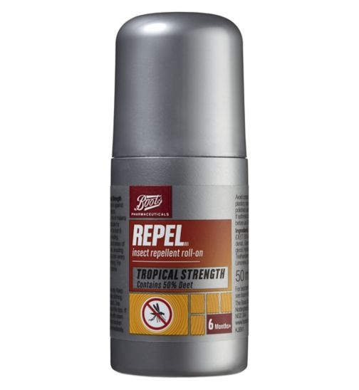 Boots Repel Insect Repellent Roll-On 50% DEET (6 months +)
