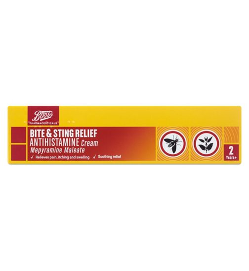 Boots Pharmaceuticals Bite & Sting Relief Antihistamine Cream (20g)