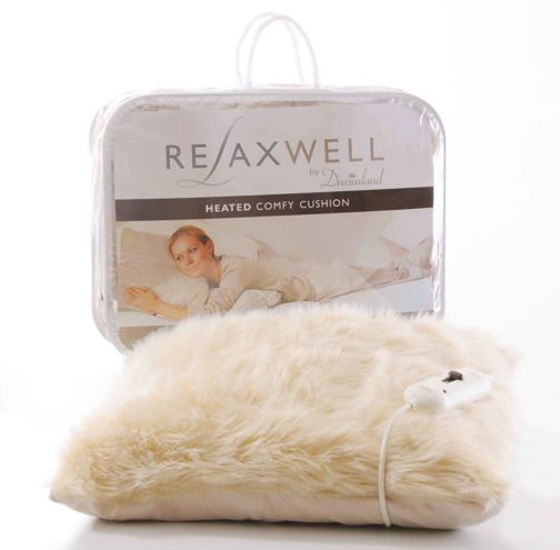 Dreamland Relaxwell Deluxe Faux Fur Heated Comfy Cushion