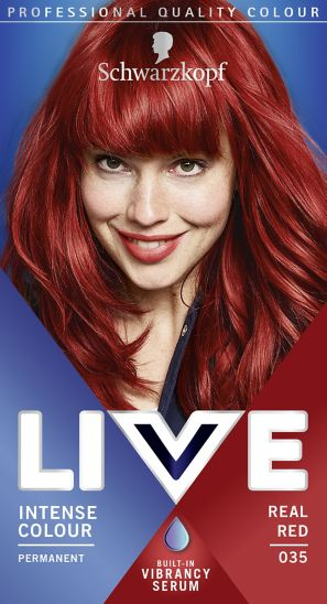 Schwarzkopf LIVE Intense Colour 035 Real Red Hair Dye