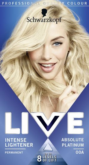 Schwarzkopf LIVE Intense LigSchwarzkopf LIVE Intense Lightener 00A Absolute Platinum Hair Dye