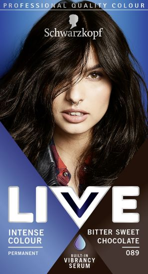 Schwarzkopf LIVE Color XXL HD 89 Bitter Sweet Chocolate Permanent Brown Hair Dye