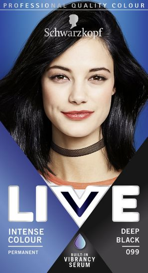 Schwarzkopf LIVE Intense Colour 099 Deep Black Hair Dye
