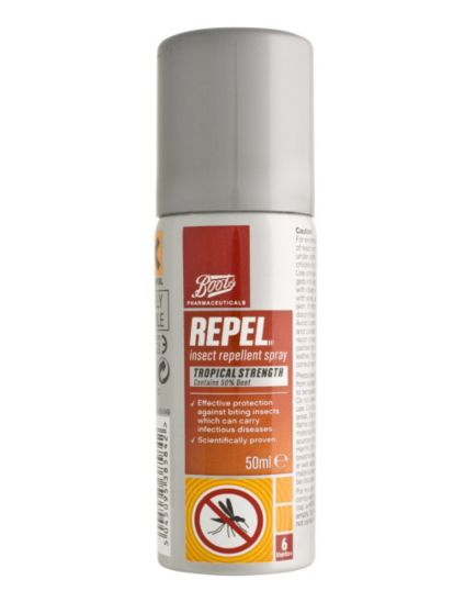Boots  Repel Insect Repellent Spray Tropical Strength (50ml)