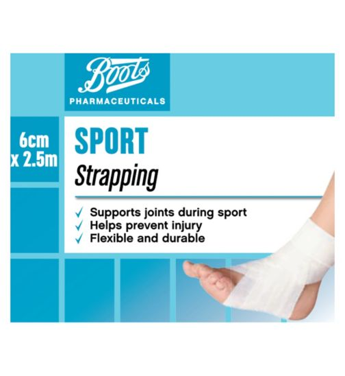 Boots Sports Strapping 2.5m x 6cm