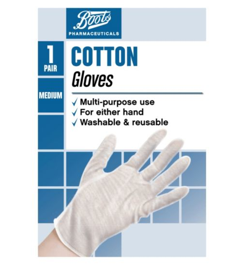 Boots Pharmaceuticals Cotton Gloves- Medium (1 Pair)