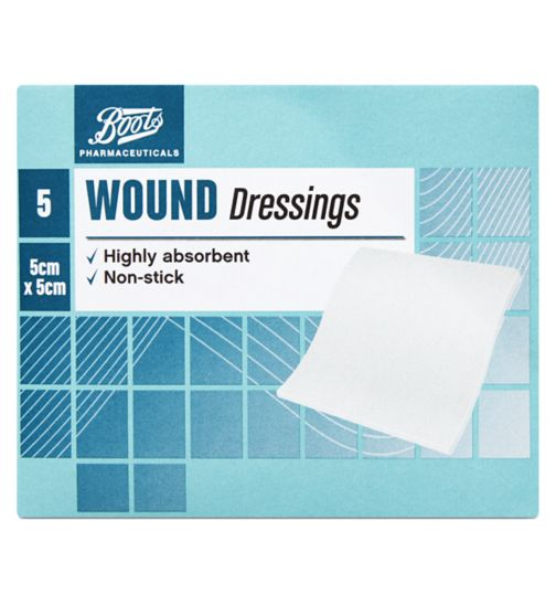 Boots Wound Dressing Pads (5cm x 5cm)- Pack of 5
