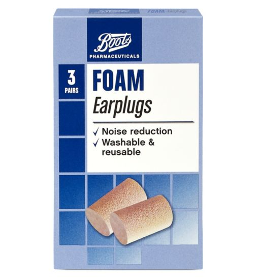 Boots Foam Earplugs - 3 Pairs with Carry Case