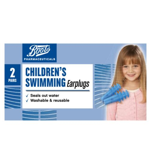 Boots Pharmaceuticals Childrens Swimming Earplugs (2 Pairs with Carry Case)
