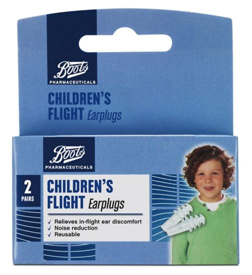 Boots Childrens Flight Earplugs (2 Pairs with Carry Case)