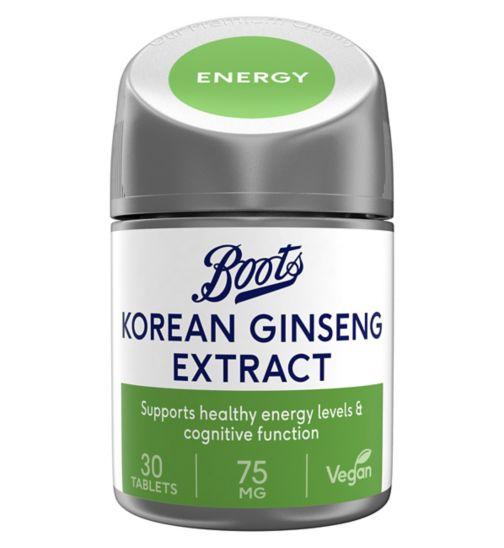 Boots  Korean Ginseng 75mg (30 Tablets)