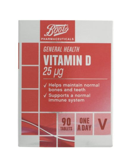 Boots Vitamin D 25µg (90 Tablets)