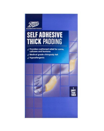 Boots Pharmaceuticals Self Adhesive Thick Padding (1 Sheet)
