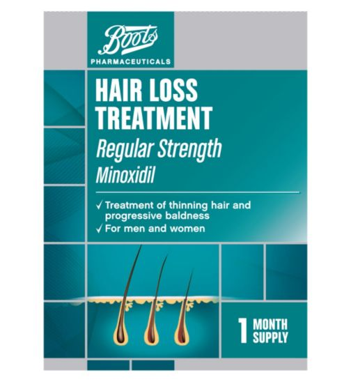 Boots Pharmaceuticals Hair Loss Treatment Regular Strength - 1 Month Supply (60ml)