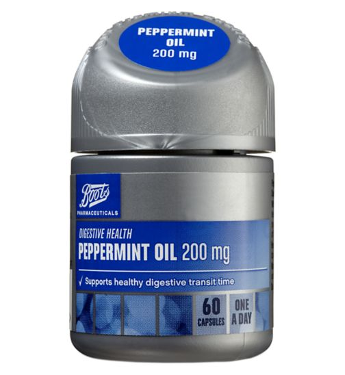 Boots Peppermint Oil 200mg (60 Capsules)