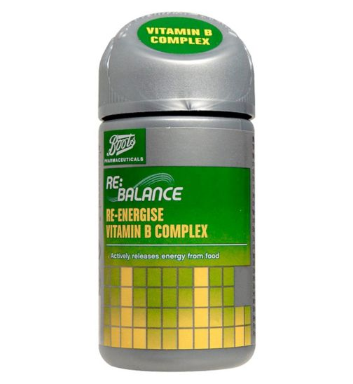 Boots Re:Balance Re-energise Vitamin B Complex Sustained Release (90 Tablets)