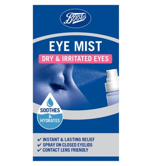 Boots Pharmaceuticals Dry Eyes Eye Mist - 10ml