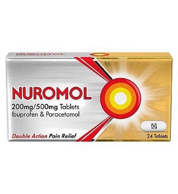 Nuromol 200mg/500mg Tablets (24 Tablets)- Always read the leaflet