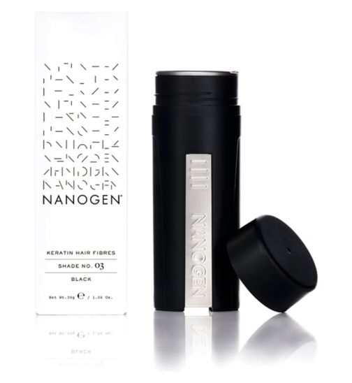 Nanogen Hair Thickening Keratin Fibres - Black 30g (2 months' supply)