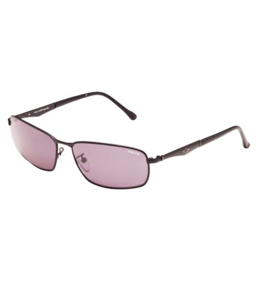 Police S8744 Men's Prescription Sunglasses - Black