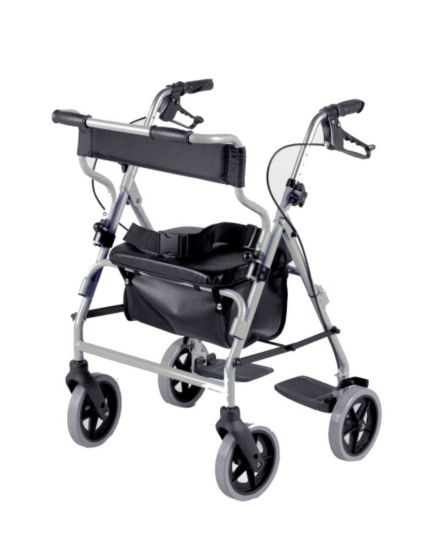 Homecraft Rollator & Transit Chair Combination Silver