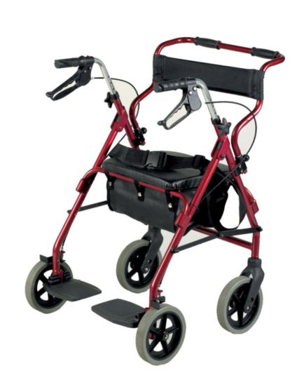 Homecraft Rollator & Transit Chair Combination Burgundy