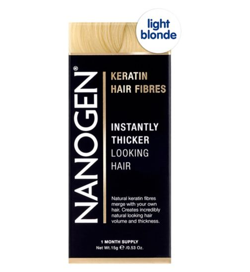 Nanogen Hair Thickening Fibres Light Blonde 15g (1 month's supply)