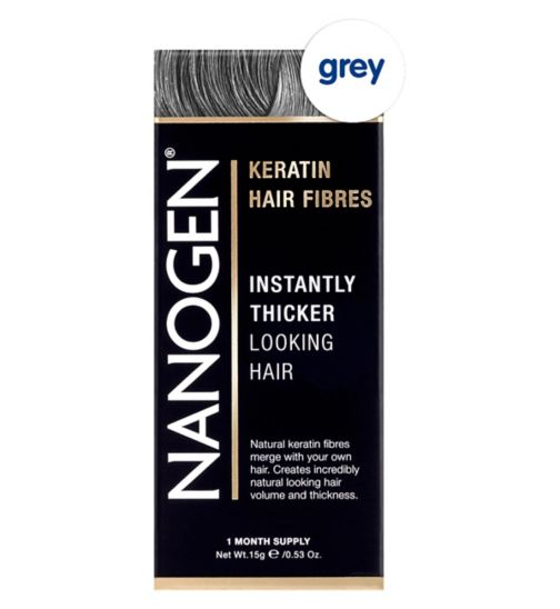 Nanogen Hair Thickening Fibres Grey 15g (1 month's supply)