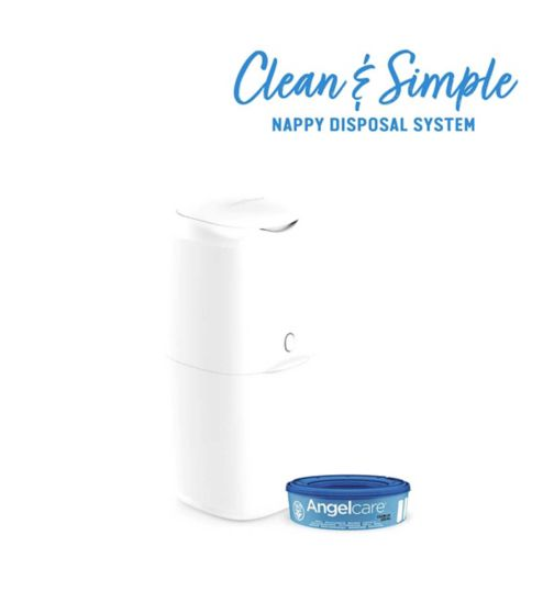 Angelcare Nappy Disposal Bin - White