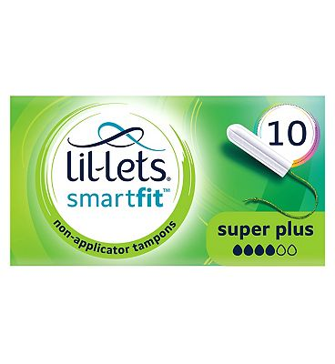 Lil-Lets Non-Applicator Tampons Super Plus 10 Pack