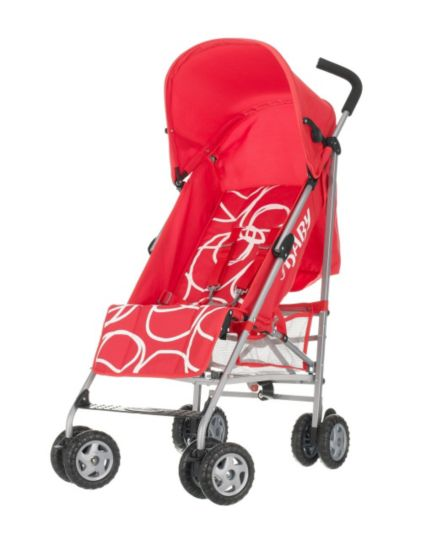 OBaby Atlas Scribble Pushchair - Red