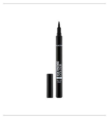 Collection2000 Extreme 24hour Felt Tip Liner Black 1 Black